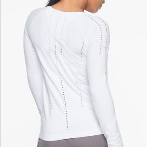 Athleta Bright White Workout Top L Foothill